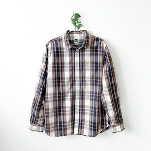 Roots Plaid Button-Up